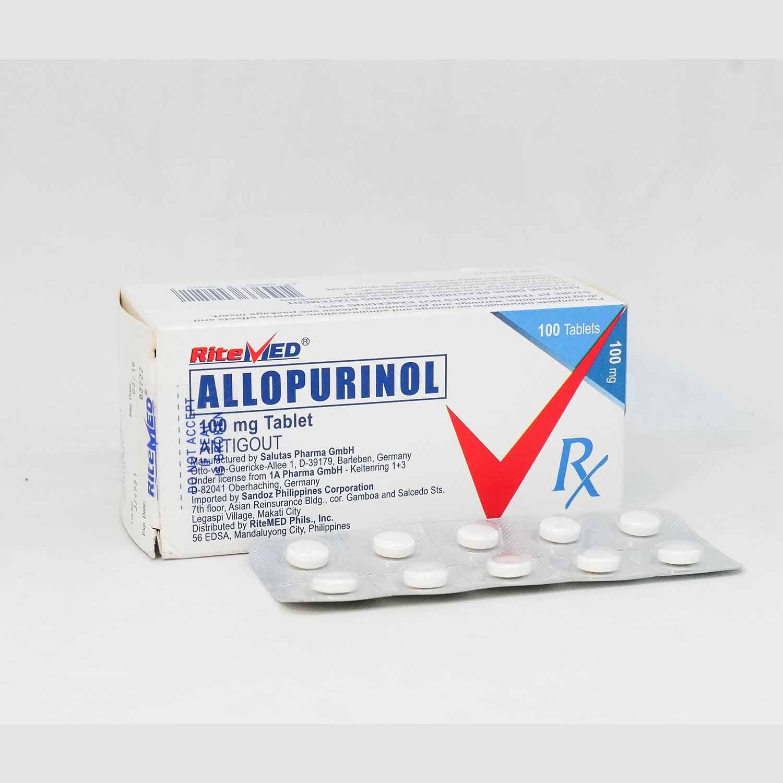 Buy :Ritemed allopurinol 100mg tablet | PharmEZ Online Drugstore